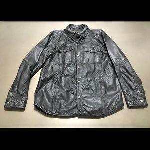Men's Harley-Davidson Distressed Leather Shirt Lg